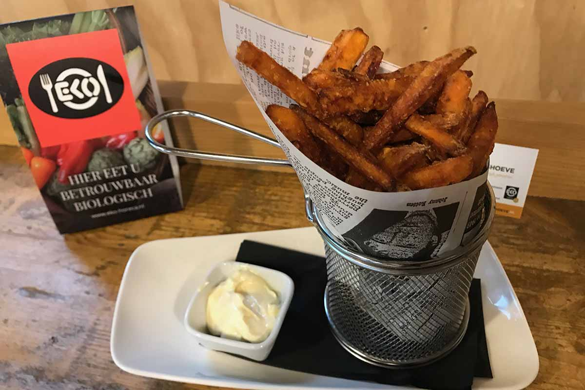 Zoete aardappel friet Bistro de Stadshoeve